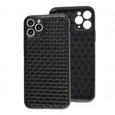 Чехол для iPhone 11 Pro Leather case плетенка