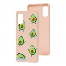 Чехол для Samsung Galaxy A41 (A415) Wave Fancy sports avocado / pink sand