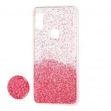 "Чехол для Xiaomi Redmi Note 6 Pro Fashion блестки + popsocket ""розовый"""