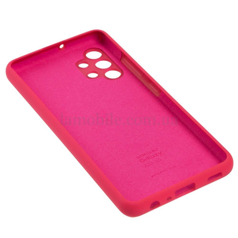 Чехол для Samsung Galaxy A32 (A325) Silicone Full розовый / barbie pink