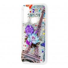 Чехол для Xiaomi Redmi Note 8 Блестки вода new Эйфелева башня