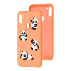 Чехол для Samsung Galaxy A11 / M11 Wave Fancy panda / peach