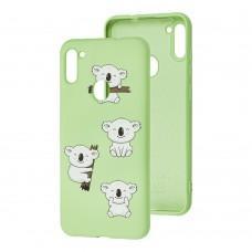 Чехол для Samsung Galaxy A11 / M11 Wave Fancy koala / mint gum