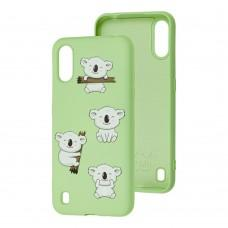 Чехол для Samsung Galaxy A01 (A015) Wave Fancy koala / mint gum