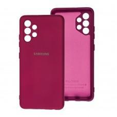 Чехол для Samsung Galaxy A32 (A325) Silicone Full camera бордовый / marsala