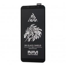 Защитное стекло для Huawei Y5p Inavi Premium черное (OEM)