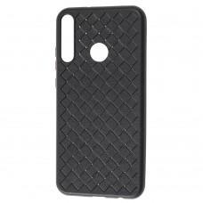 Чехол для Huawei P40 Lite E Weaving case черный