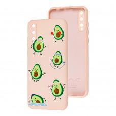 Чехол для Huawei P Smart S Wave Fancy sports avocado / pink sand