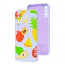Чехол для Huawei P Smart S Wave Fancy summer fruits / light purple