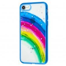 Чехол для iPhone 7 / 8 / Se 20 Colorful Rainbow синий