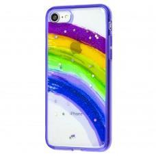 Чехол для iPhone 7 / 8 / Se 20 Colorful Rainbow фиолетовый