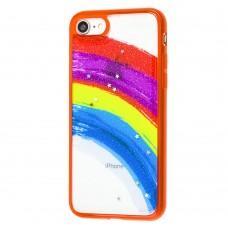Чехол для iPhone 7 / 8 / Se 20 Colorful Rainbow красный