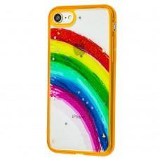 Чехол для iPhone 7 / 8 / Se 20 Colorful Rainbow оранжевый