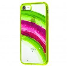 Чехол для iPhone 7 / 8 / Se 20 Colorful Rainbow зеленый