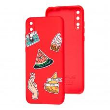 Чехол для Huawei P Smart S Wave Fancy color style watermelon / red