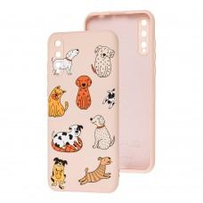 Чехол для Huawei P Smart S Wave Fancy funny dogs / pink sand