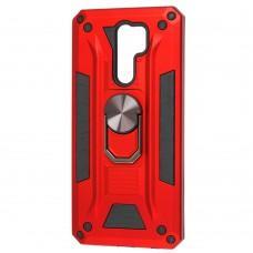 Чехол для Xiaomi Redmi 9 Robot Ring красный