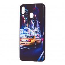 "Чехол для Samsung Galaxy M20 (M205) glass new ""Нью Йорк"""
