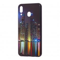 """Чехол для Samsung Galaxy M20 (M205) glass new """"Манхетен"""""""