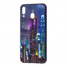 """Чехол для Samsung Galaxy M20 (M205) glass new """"Небоскреб"""""""