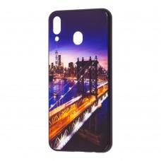 "Чехол для Samsung Galaxy M20 (M205) glass new ""мост"""