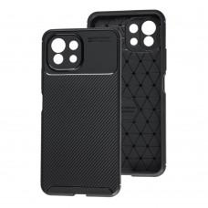 Чехол для Xiaomi Mi 11 Lite Ultimate Carbon черный