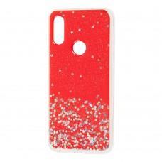 Чехол для Xiaomi Redmi Note 7 star конфети красный