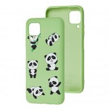 Чехол для Huawei P40 Lite Wave Fancy lovely panda / mint gum