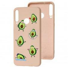 Чехол для Huawei P40 Lite E Wave Fancy sports avocado / pink sand