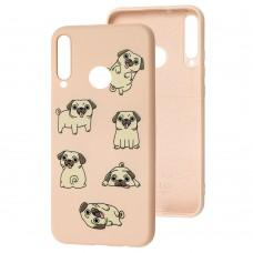 Чехол для Huawei P40 Lite E Wave Fancy pug / pink sand
