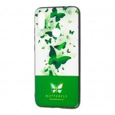 Чехол для Xiaomi Redmi Note 7 Butterfly зеленый