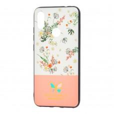 Чехол для Xiaomi Redmi Note 7 Butterfly розовый