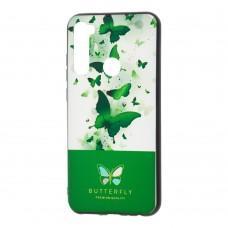 Чехол для Xiaomi Redmi Note 8 Butterfly зеленый
