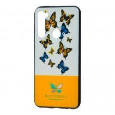 Чехол для Xiaomi Redmi Note 8 Butterfly желтый