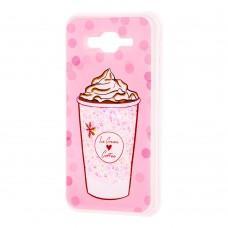 "Чехол для Samsung Galaxy J7 (J700) вода светло-розовый ""мороженое"""