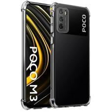 Чехол для Xiaomi Poco M3 WXD ударопрочный прозрачный