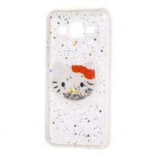 "Чехол для Samsung Galaxy J5 (J500) жидкие блестки игрушка ""Kitty"""