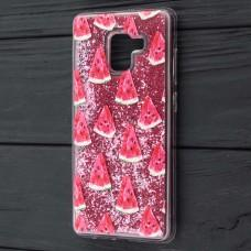 "Чехол для Samsung Galaxy A8+ 2018 (A730) вода розовый ""арбуз"""