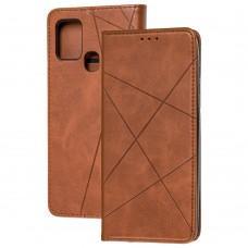 Чехол книжка Business Leather для Samsung Galaxy A21s (A217) коричневый