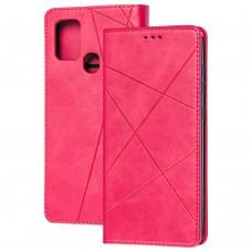 Чехол книжка Business Leather для Samsung Galaxy A21s (A217) малиновый