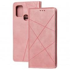 Чехол книжка Business Leather для Samsung Galaxy A21s (A217) розовый