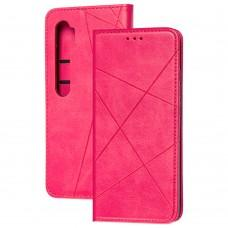 Чехол книжка Business Leather для Xiaomi Mi Note 10 Lite малиновый