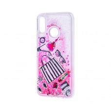 "Чехол для Huawei P20 Lite Блестки вода розовый ""сумочка"""