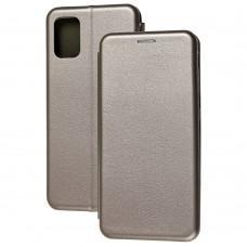 Чехол книжка Premium для Samsung Galaxy A71 (A715) серый