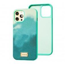 Чехол для iPhone 12 Pro Max Gif Wave style зеленый