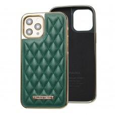 Чехол для iPhone 12 Pro Max Puloka leather case зеленый