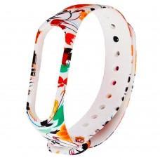 """Ремешок для Xiaomi Mi Band 3 силиконовый """"белый с разными цветами"""""""