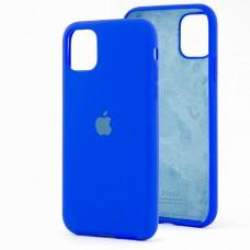 Чехол для iPhone 11 Silicone Full синий / shiny blue