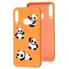 Чехол для Huawei P40 Lite E Wave Fancy panda / peach