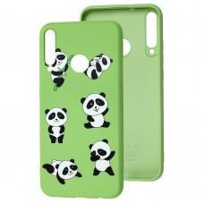Чехол для Huawei P40 Lite E Wave Fancy lovely panda / mint gum